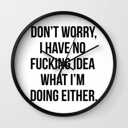 We're In It Together! X-Rated Wall Clock