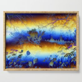 ABSTRACT - My blue heaven Serving Tray