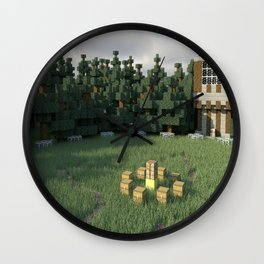 Survival Games - The Forest Wall Clock