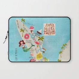 Anna Maria Island Map Laptop Sleeve