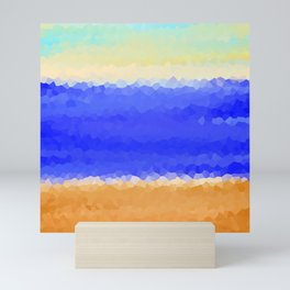 Crystallized Beach Day. Mini Art Print
