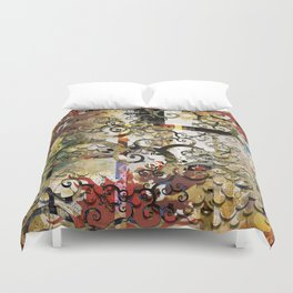 Abstract Tree of Life Duvet Cover