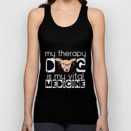Therapy dog saying | Therapist Medicine Animal Unisex Tank Top