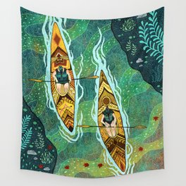 Kayaking Wall Tapestry