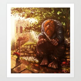 The troll and the gnome Art Print