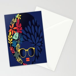 Afro Diva : Sophisticated Lady Blue Stationery Cards