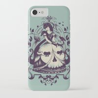 death iPhone & iPod Cases featuring Mrs. Death by Enkel Dika