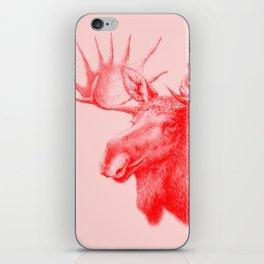 Moose red iPhone Skin