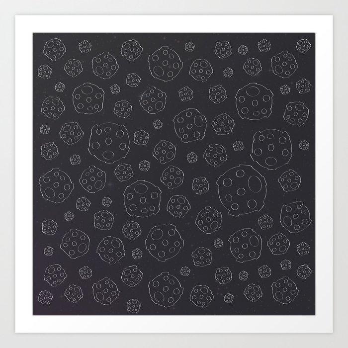 Space Rocks (Patterns Please) Art Print