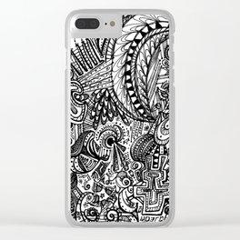 Doodle Clear iPhone Case