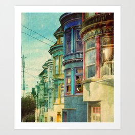 behind the window Art Print