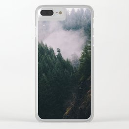 Forest Fog V Clear iPhone Case