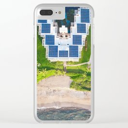 Aerial View of a Resort in Kiheh, Maui Clear iPhone Case