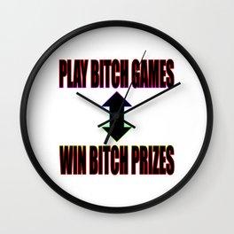 Play B*tch Games Wall Clock