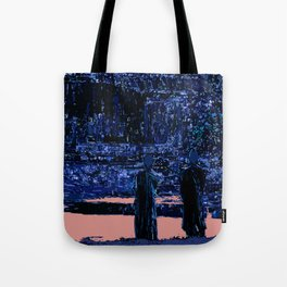 Sunset over the temple Tote Bag