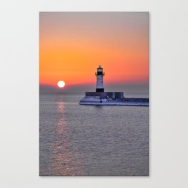 Duluth Harbor North Breakwater Lighthouse Canvas Print