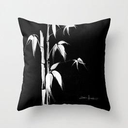 White bamboo Throw Pillow