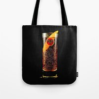 coke Tote Bags featuring Barcadi Coke by Rothko