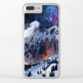 Mountain CALM IN space view Clear iPhone Case