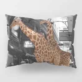 Safary in City. African Invasion. Pillow Sham