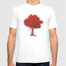 s tree t LARGE White Mens Fitted Tee