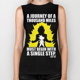 A Journey Of A Thousand Miles (Goku) Biker Tank