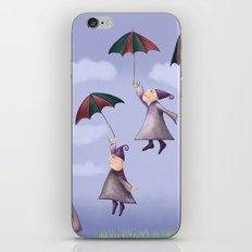 Floating Down iPhone & iPod Skin