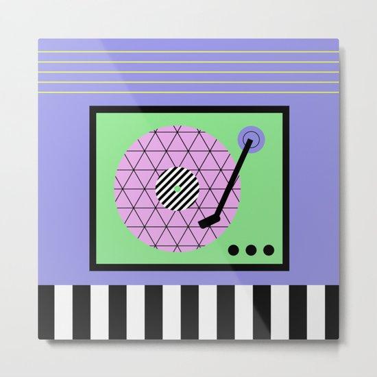 Play That Retro Geometric Vinyl Metal Print