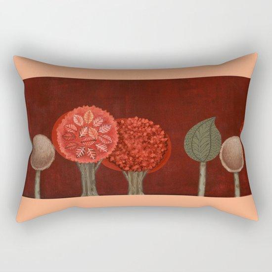 Red Grove Rectangular Pillow