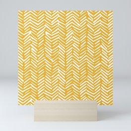 Boho Mudcloth Pattern, Summer Yellow Mini Art Print