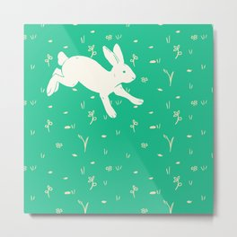 Running Bunny Metal Print