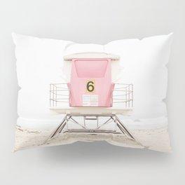 Beach photography pink tower Pillow Sham