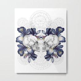 SKULLS & IRIS Metal Print