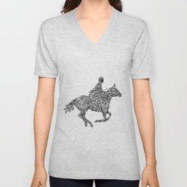 Horse Rider Unisex V-Neck