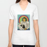 ripley V-neck T-shirts featuring Ripley by Derek Eads