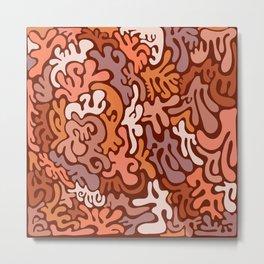Pink Coral Pattern Design Metal Print