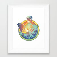 doctor Framed Art Prints featuring Doctor by David Chestnutt