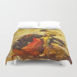 Vintage Mexico Bullfighting Travel Duvet Cover
