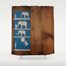 how to make your elephant fly Shower Curtain