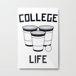 College Life Metal Print