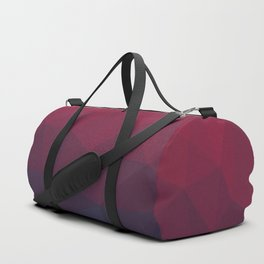 midnight blue and red polygon Duffle Bag