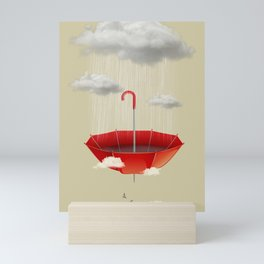 Saving the rain Mini Art Print