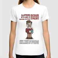 swanson T-shirts featuring Ron Swanson by maykel nunes