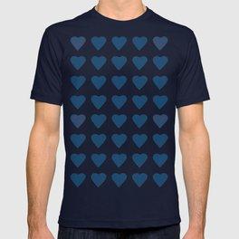 64 Hearts Navy T-shirt
