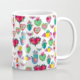 Sacred Hearts Milagros Watercolor Coffee Mug