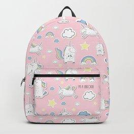 I'm a unicorn - pink Backpack