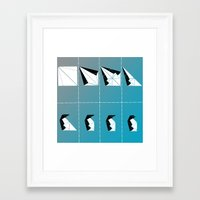 penguin Framed Art Prints featuring PENGUIN by ARCHIGRAF