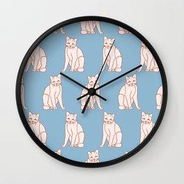 Cute Smiling Cat Pattern Wall Clock