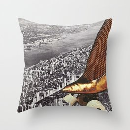 Aliens Have Landed Throw Pillow