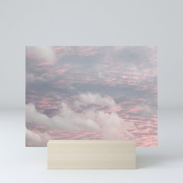 Cloud layers of Pink Mini Art Print